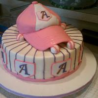 Baseball Girl This cake was for girl celebrating her 7th birthday :) took the photo before I wrote Happy Birthday on base board but still cute :)