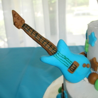 Little Rockstar Baby Shower Cake