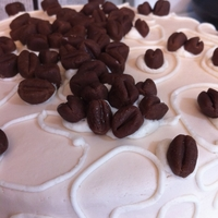 Coffee Bean Cake   dark chocolate cake with mocha filing and fondant coffee beans for my hubby on our 12th ann