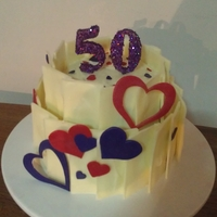 50Th Chocolate Shard Cake Terrible photo, sorry guys !!