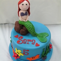 Mermaid Cake made for a friends daughter who adores mermaids