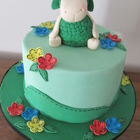 Where Is The Green Sheep? Fondant figure and fondant decorations for a special little girl :)