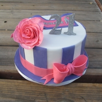 21St Cake rushed 21st birthday cake for a girly girl! :)