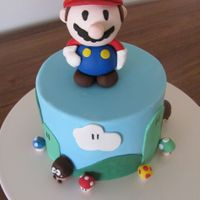 Super Mario Cake And Matching Cupcakes