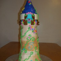 Rapunzel's Tower I done this cake for my twins who just turned 5 and are in love with the movie Tangled. Although i didnt get the chance to put Rapunzel in...