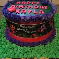 Dora The Explorer Dora the Explorer Edible Image Cake