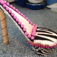 Zebra And Pink Stiletto Cupcake Zebra and Pink Stiletto Cupcake