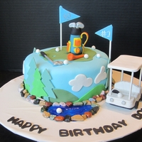Golf Cake This is my first golf cake, thank you for all de CC memebers for the inspiration. It is all strawberry (cake, filling and buttercream)...