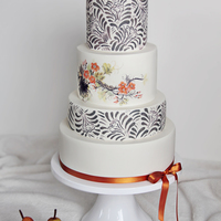 "Simply Stunning This cake was created to celebrate the launch of a new line of cake stands for Sarah's Stands called ""Simply Stunning."" To..."