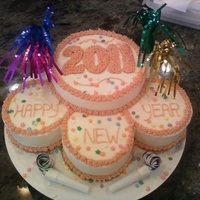 "New Year We had plans to spend New Year's Eve with another couple so I made a 6"" cake so we wouldn't have tons of leftovers. Then I..."