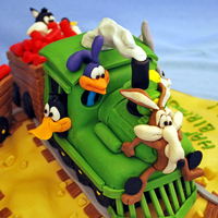 "Looney Tunes Characters On A Train Journey From A Book Cartoon Cakes Debbie Brownit Took Me A Lot Of Time But It Was Real Fun Making T Looney Tunes characters on a train journey:) from a book ""Cartoon cakes"" Debbie Brown..it took me a lot of time but it was real..."