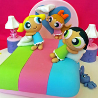 Powerpuff Girls Having A Playful Pillow Fight Before Bedtime Another Cake I Made Followed Instruction From Debbies Brown Book Cartoon C Powerpuff Girls having a playful pillow fight before bedtime:) Another cake i made followed instruction from Debbie's Brown book &quot...