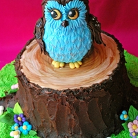 Owl Cake Owl is made out of two foam balls different sizes covered with sugarpaste. For the feathers i used rose leaves plunger cutter (medium and...