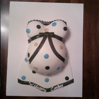 Belly Bump Vanilla Cake with Vanilla BC. Fondant Decor.