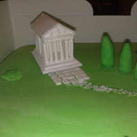 Greek Temple Cake - Zeus My new system at work went into production called Zeus. So this celebration cake was inspired by the greek theme ( mini greek temple from...