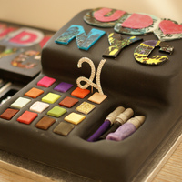 Urban Decay Cake Made for the clients 21st birthday. the original box is in the background
