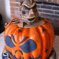 Halloween Jack o lantern has found the sorting hat. auction with all profits to HELP FOR HERO's