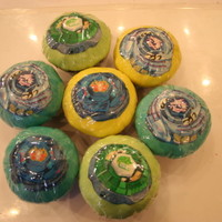 Bey Blade Cup Cakes edible print of beyblades on cupcakes
