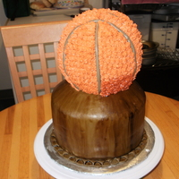 Basketball Trophy This was requested by a mother for son's 21st birthday. Star tip was used for basketball. The base was three layers covered with mmf,...