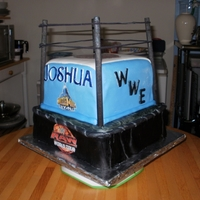 Wrestling Cake Made for my Brother for father's day.