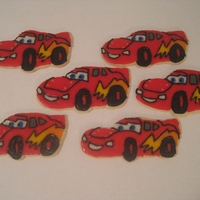 Lightning Mcqueen Cookies These were made for my son's birthday. I had not cutter so I had to make them all by hand!! They took forever, but I think they turned...