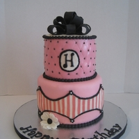 Quilted Cake Quilted top with chocolate striping on the bottom for a young adult who loves pink!