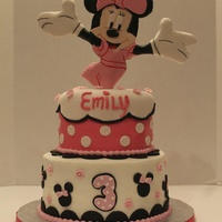 Minnie Mouse Birthday Cake Emily's third birthday cake!! She LOVES Minnie Mouse and was so excited to see her popping out of the top of the cake!