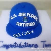 Air Force Retirement Hat Cake
