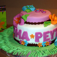 "Luau Baby Shower Cake Customer request a luau themed baby shower cake...a design that didn't scream ""baby shower"". I decorated the cake based upon..."