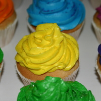 Simple Neon Cupcakes Customer wanted neon colored cupcakes for birthday.