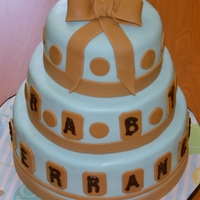 Baby Shower Cake Customer wanted a 3 tier baby shower cake replicated from another cake they saw. I think more detailing could have been done, but it's...