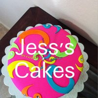 Jess's Cakes Very bright colors.