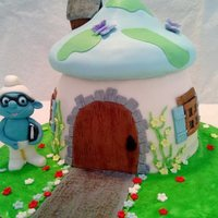 Brainy Smurf Made this cake for one of my husbands co workers. It was a lot of fun to make!