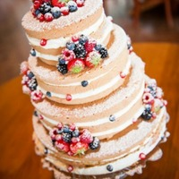 Wedding Cake With A Lot Of Fresh Fruit Wedding cake with a lot of fresh fruit