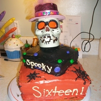 Spooky Sixteen I made this cake for my aunt's friend's daughter. Her birthday is on Halloween and she was having a Halloween themed birthday...