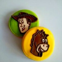 Toy Story Cookies Woody and bullseye cookies