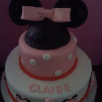 Minnie Mouse Cake fondant