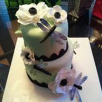 "Sister""s Birthday Cake   All edible. Wafer paper dragonflies. TFL!"
