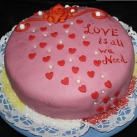 Love Is...   Love is all we need cake.easy valentine cake