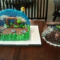 Fish Creel And Angry Birds My son and son-in-law have birthdays 2 weeks a part so we are celebrating on one day so I decided to bake a cake for both of them. My son-...
