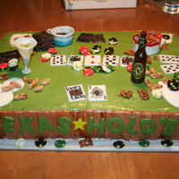 Texas Hold'em In the midst of a poker game. All the details edible, miniature with handpainted details.