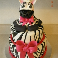 Zebra Cake Zebra cake, all made of fondant! And hand painted.