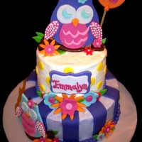 Girl 2Nd Birthday Owl Cake Girl 2nd Birthday Owl Cake