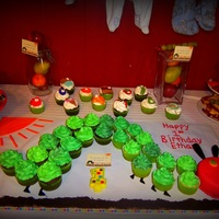 Hungry Caterpillar Cupcakes And Smash Cake Hungry Caterpillar cupcakes and smash cake.
