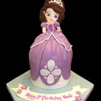 Sofia The First Cake Cake sculpted sofia the first princess with fondant torso - hand painted