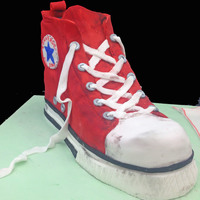 A Worn Out Converse Show 3D sculpted coverse shoe