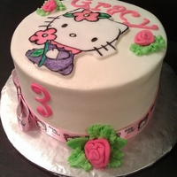 Hello Kitty Vanilla Cake, buttercream, frondant decorations