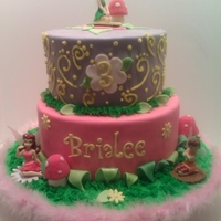 Tinkerbell Cake Cake, decorated with Marshmallow Fondant, decorated with Tinkerbell