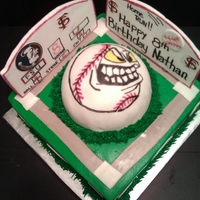 Fsu Baseball Cake FSU baseball themed cake, buttercream, fondant decorations