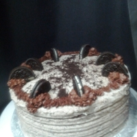 Oreo Cake Chocolate cake filled & iced with Oreo butter cream.